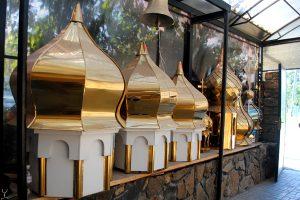 верхушки куполов православных храмов