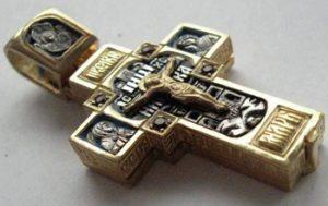 крест мощевик нательный