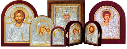 иконы церковные из серебра