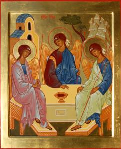 икона Святая Троица Рублева