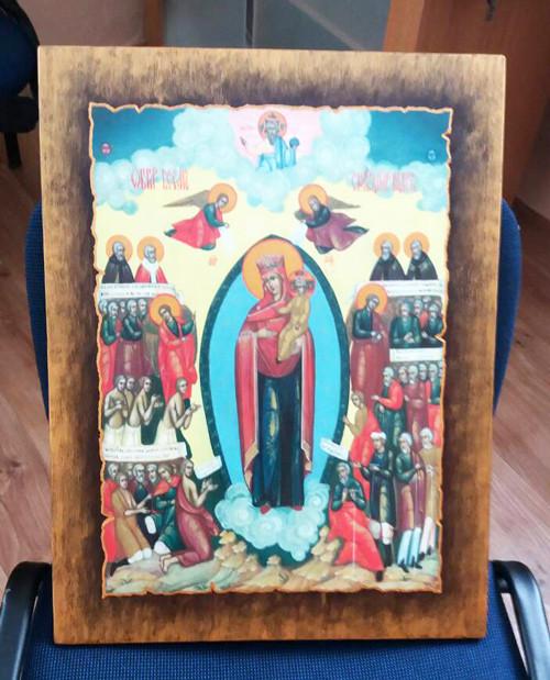 Ікона церковна Всех скорбящих радость Богородиця