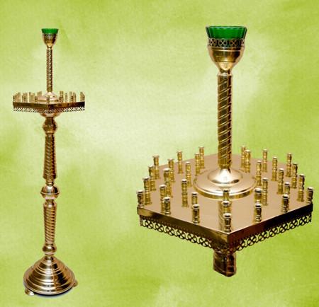 Напольный подсвечник на 36 свечей шестигранный