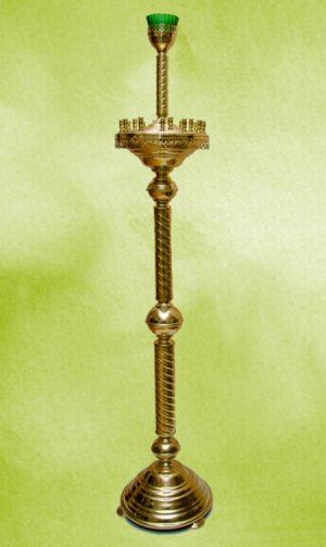 Подсвечник для храма на 15 свечей из латуни