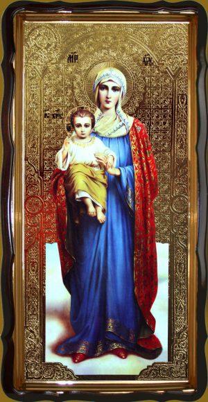 Икона Пресвятой Богородицы 120х60 или 110х80см