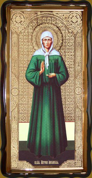 Икона святой Матроны ростовая 120х60 или 110х80см
