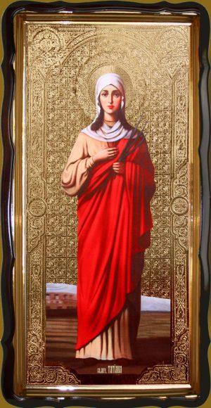 Икона мученица Татьяна 120х60 или 110х80см