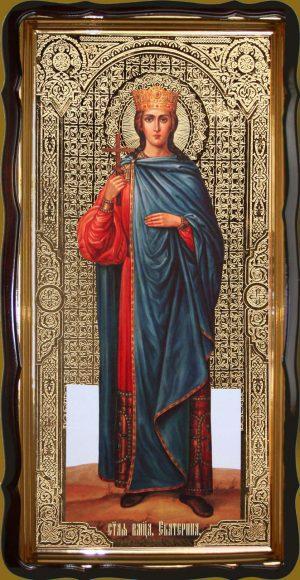Святая великомученица Екатерина 120х60см или 110х80см