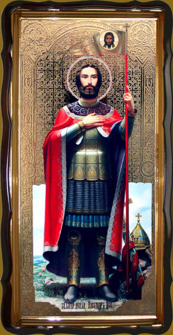 Икона Александра Невского 120х60см или 110х80см