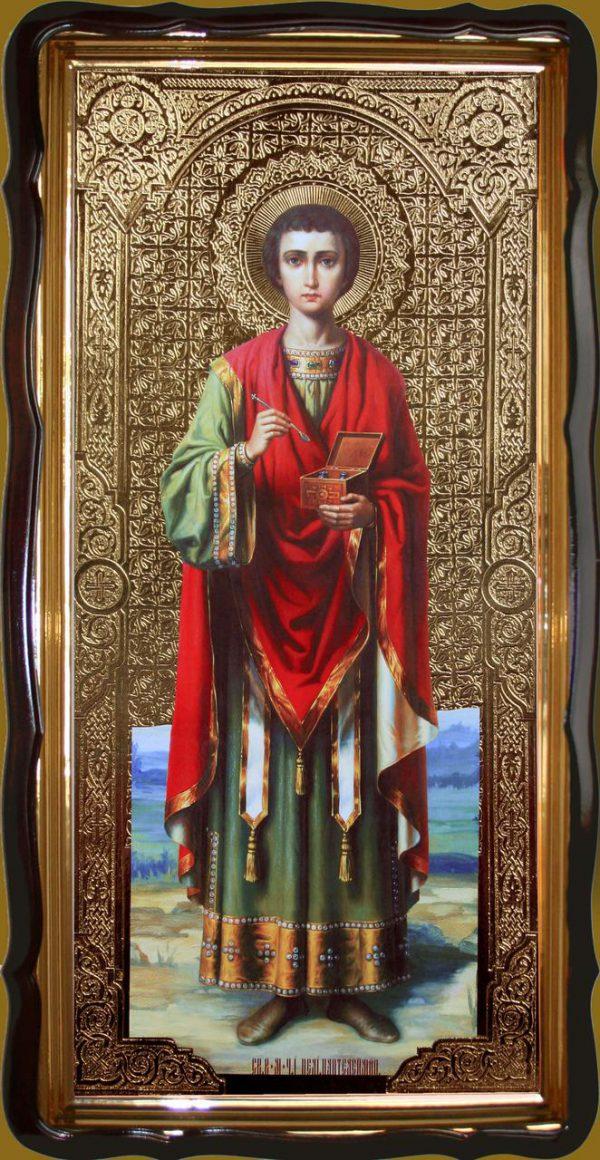 Икона Пантелеймона целителя 120х60 или 110х80см