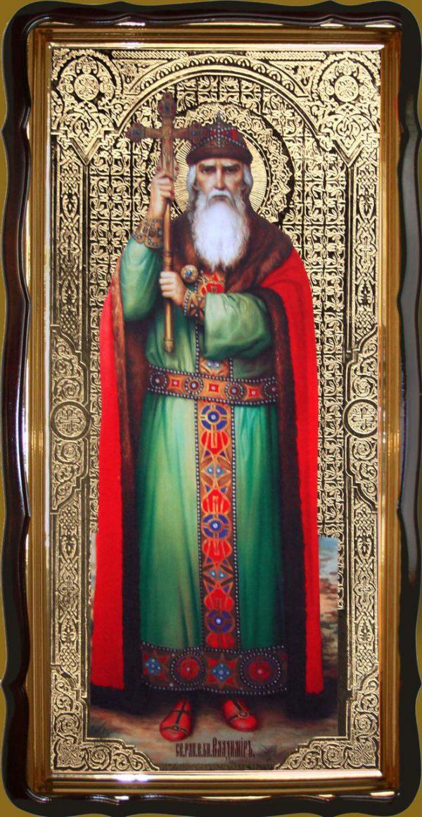 Икона святого Владимира Великого 120х60