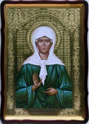 Икона Блаженной Матроны 80х60см (110х80см)