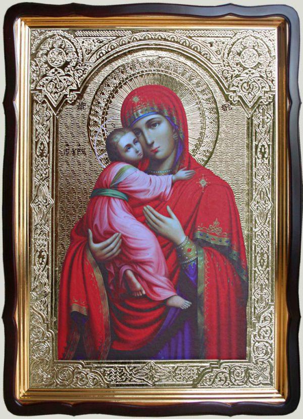 Владимирская икона Божией Матери 80х60см (110х80см)