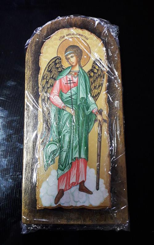 Ікона з росписом Ангел охоронець ікона домашня 46х22см