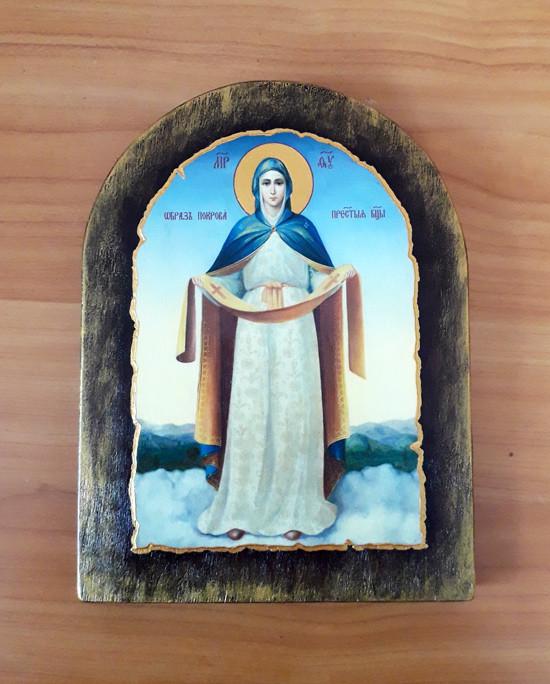 Ікона ручної роботи Покрова Пресвятої Богородиці