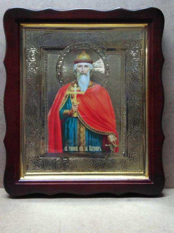Икона святого Владимира Великого 35х30см