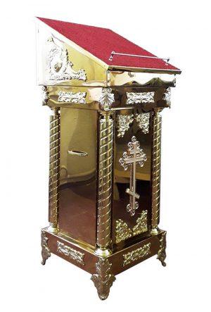 Боковой аналой с декором без стекла (размер 50*50см)