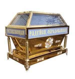 Гробница из нитрид титана под плащаницу Богородицы