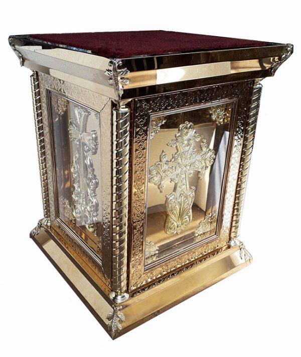 Православный жертвенник разборный из булата для церкви 80х80см