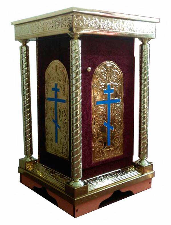 Жертвенник с чеканкой для православного храма