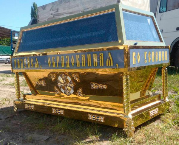Гробница православная под плащаницу из металла 170х90см