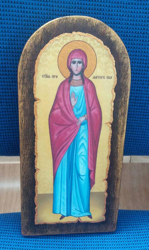 Ікона ручної роботи Свята Єва  23х11см