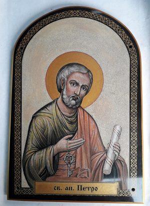Икона апостола Петра из камня на заказ для храма
