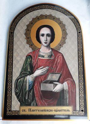 Икона Св. Пантелеймона для храма на камне