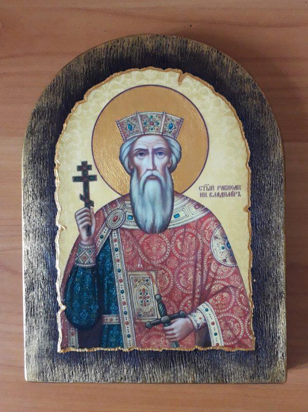 Ікона на дереві Святий Володимир