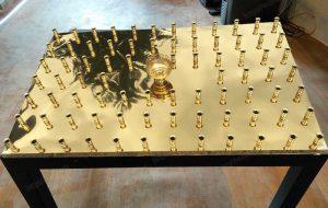 Крышка с лампадкой на 60 свечей за здравие