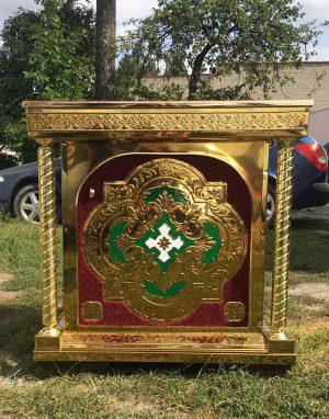 Православный жертвенник  с декором на булате