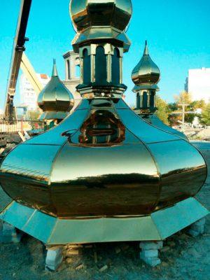 Изготовление церковных куполов с выездом к заказчику