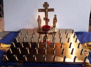 Крышка панихидного столика с подсвечниками на 50 св.