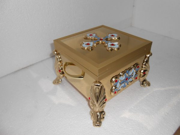 Купить ковчег на 1-3 мощевика булатный с декором