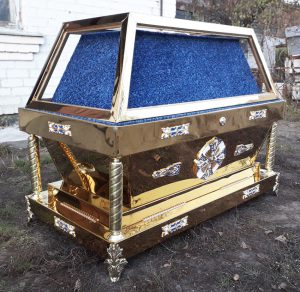 Гробница из булата под плащаницу Богородицы