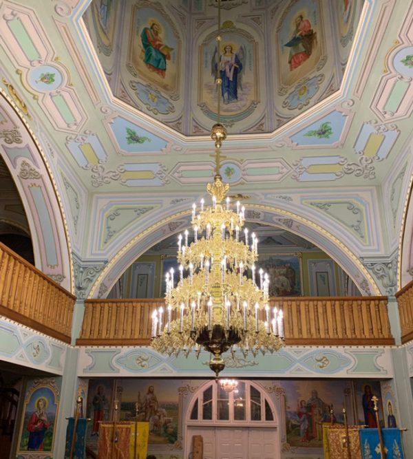 Паникадило люстра 4-ярусное на 80 свечей для церкви