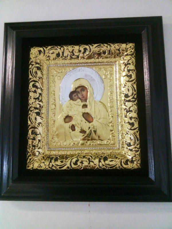Икона Богородицы 34х37см с золочением