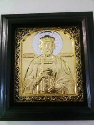Икона Святого Владимира с золочением 34х37см