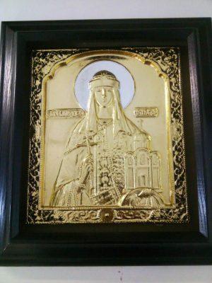 Икона Святой Ольги с золочением 34х37см