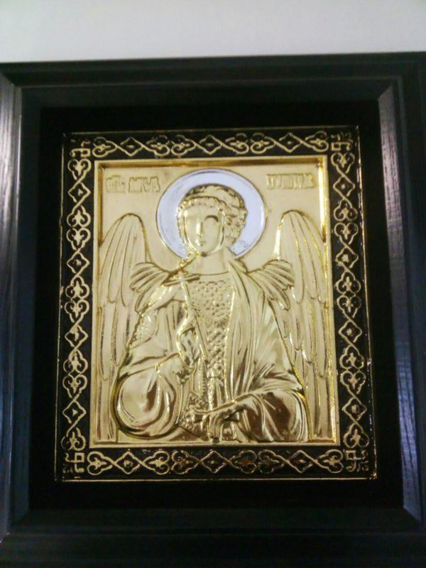 Икона Ангела Хранителя с позолотой ризы 34х37см