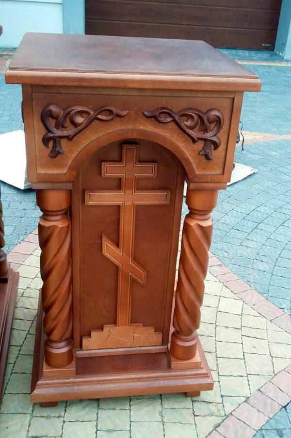 Панихидный стол малый из дерева под крышку