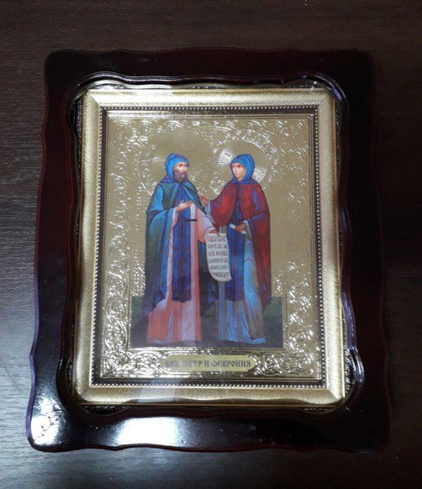 Икона Святые Петр и Феврония 35х30см