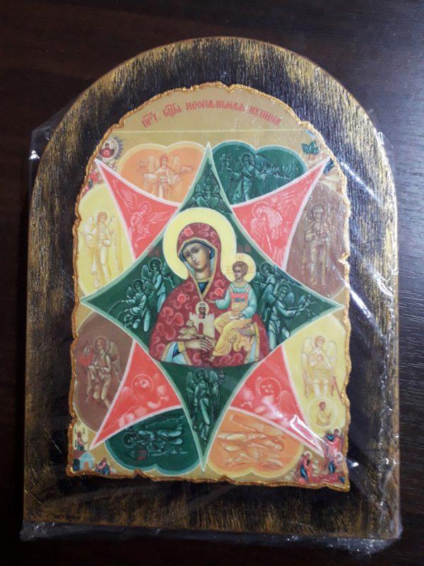 Ікона з росписом Неопалима  Купина Богородиця