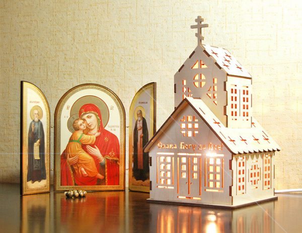 Лампа-ночник келейный «Церковь» на заказ