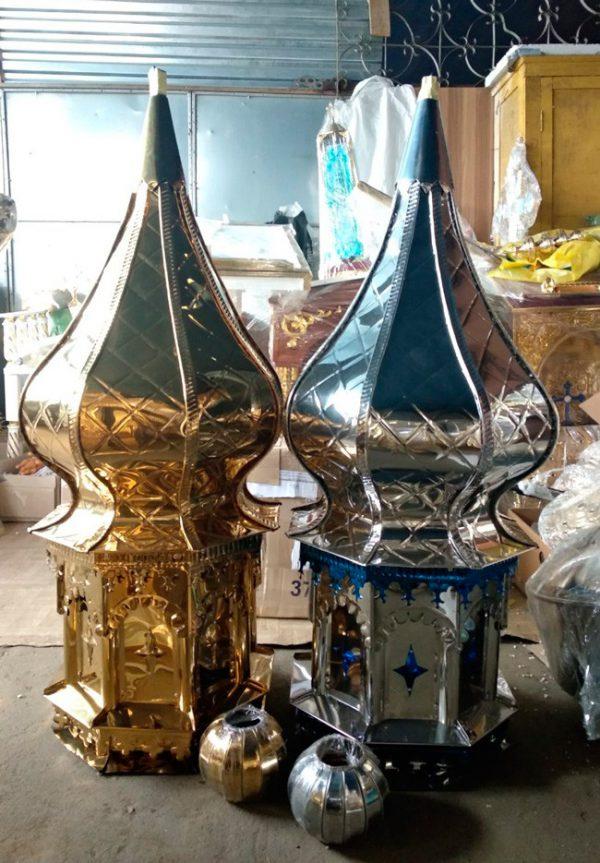 Купол для храма под белое золото d/60cm