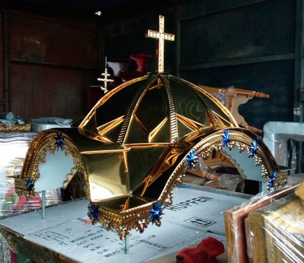 Крыша для жертвенника из булата с крестом (спецзаказ)