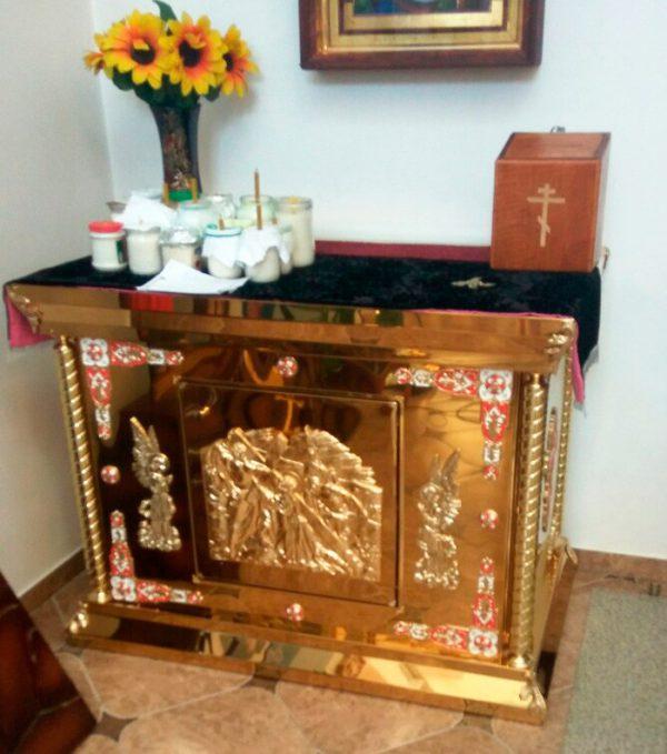 Большой панихидный стол с ангелами и литьем на заказ 130х60см