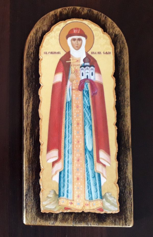 Ікона на замовлення Свята Ольга  23х11см