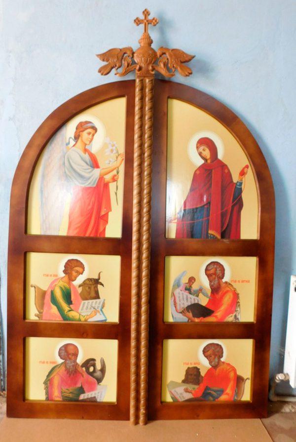 Царские Врата с большими иконами (лак)