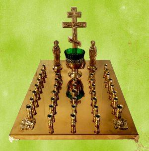 Купить крышку для панихидного стола на 36 свечей (нитрид титан)
