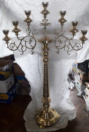 Семисвечник запрестольный с крестом 168х103см